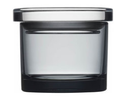 """Iittala - Glass Jars 3.6"""" x 3"""", Gray - Get clear on kitchen storage. These little glass jars have a tight-fitting lid to keep things like herbs and spices fresh. Keep your kitchen pantry, home office and bathroom organized. Who knew it would take a little glass jar to see you through!"""