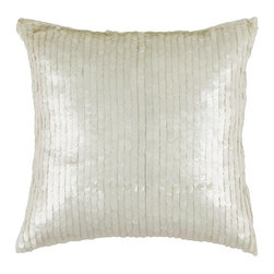 Rizzy Home - White and Off White Decorative Accent Pillows (Set of 2) - T03063 - Set of 2 Pillows.