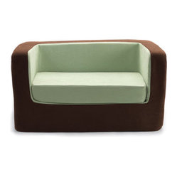 modern designer cubino chair and loveseat - contemporary modern nursery furnitur