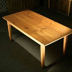 Smooth Grain Country Wood  Dining Tables with Fruit Wood Finish - Made by www.ecustomfinishes.com
