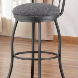 "Tempo - Frolic 30"" Swivel Barstoolva - Tempo was founded in 1970 and is recognized today as the fashion leader for casual dining, pub tables and barstools. The companys product line features contemporary, transitional and traditional styling. Tempo is recognized for its commitment to quality, comfort, and a broad assortment of custom choices that feature high performance fabrics, durable non-toxic powder coat finishes, glass and wood tops in a variety of sizes and chairs that feature stationary seating, swivel and tilt swivel designs. Thank you for selecting Tempo to become part of your home décor. Features: -Swivel barstool. -Frolic collection. -Over 62 fabric options and 14 finish options to choose from. Specifications: -Made in USA. -Seat Overall dimensions: 30"" H x 16.5"" W x 16.5"" D. -Overall dimensions: 37.5"" H x 16.5"" W x 16.5"" D. All Tempo Metal stools utilize a commercial grade 16 guage stainless steel. These are the most durable stools in the industry. TEMPO INDUSTRIES, INC. warrants its iron metal product construction to be free from defects in workmanship and materials for the life of the product. Fabric coverings and moving parts are not covered by this warranty."
