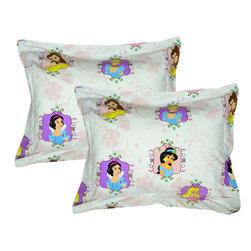 Store51 LLC - Disney Princesses Shams Set Princess Twist Bed Accessories - FEATURES: