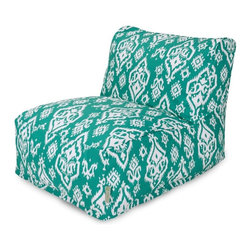 Majestic Home Goods - Jade Raja Bean Bag Chair Lounger - Add style and functionality to your living room, family room or game room with the Majestic Home Goods Raja bean bag chair lounger. This beanbag chair has the design of modern furniture, while still giving the comfort of a classic bean bag. Woven from cotton duck or twill, these loungers are durable yet comfortable. The beanbag inserts are eco-friendly by using up to 50% recycled polystyrene beads, and the removable zippered slipcovers are conveniently machine-washable. Wash in cold water with a mild detergent such as Wool-Lite and hang dry. Wash in cold water with a mild detergent such as Wool-Lite and hang dry.