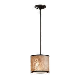 Feiss - Feiss P1219LAB Taylor 1-Light Mini Pendants in-Light Antique Bronze - 1 Bulb Light Antique Bronze Chandelier