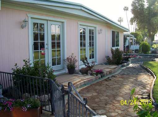 Remodel of 1970 double wide mobil home on golf course for Double wide french doors