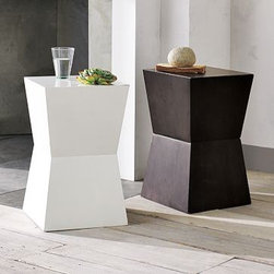 Rustic Block Side Table | West Elm - This side table is blocky yet sculptural; a bit rustic yet contemporary. If you like to play with geometry in your rooms, this side table is for you. And at $99.00, you can afford two. Flank a sofa or your bed with these for a sense of symmetry.