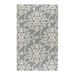 Surya - Contemporary Cosmopolitan 5'x8' Rectangle Silver Gray-White Area Rug - The Cosmopolitan area rug Collection offers an affordable assortment of Contemporary stylings. Cosmopolitan features a blend of natural Silver Gray-White color. Hand Tufted of 100% Polyester the Cosmopolitan Collection is an intriguing compliment to any decor.