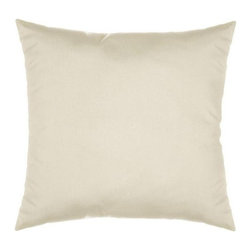 """Sunbrella® 18""""x18"""" Square Throw Pillow - Spectrum Eggshell, Spectrum Eggshell - Making the best relaxation that much better! Soft. Plush. Vibrant. Attractive. Durable. Colorfast. These pillows promise lasting outdoor comfort you won't want to take your eyes or head off of! The stylish 18""""x18"""" Sunbrella® Square Throw Pillow is sure to liven up any backyard and to provide instant comfort for relaxation. Perfect for hammocks, benches, chairs, sofas, futons, chaise lounges, and more."""