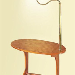 Coaster - Accent Lamp End Table - Traditional style. Mounted table lamp. Lower magazine rack. 23.75 in. W x 15.75 in. D x 52.5 in. H. WarrantyThis functional lamp table is a functional addition to your home. This lamp end table provides everything you need within reach of your seating.