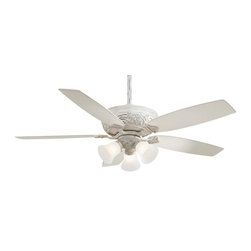 Minka-Aire - Minka-Aire Classica Uni-Pack 3-Light Provencal Blanc Ceiling Fan - F759-PBL - This 3-Light Ceiling Fan is part of the Classica Uni-pack Collection and has a Provencal Blanc Finish. It is Energy Star Compliant.