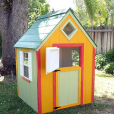 Traditional Outdoor Playsets by folkartplayhouses.com