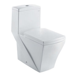Ariel - Ariel CO1018 Granada Contemporary One Piece White Toilet w/ Dual Flush - Ariel cutting-edge designed one-piece toilets with powerful flushing system. It's a beautiful, modern toilet for your contemporary bathroom remodel.