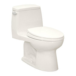 TOTO - Toto UltraMax Elongated Toilet with Sanagloss, Cotton White (MS854114SG#01) - Toto MS854114SG#01 UltraMax Elongated Toilet with Sanagloss, Cotton White