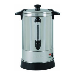Metal Ware Corp. - Nesco Coffee Urn 30cup - Nesco CU-30 30-Cup Coffee Urn is constructed of stainless steel and features double wall insulation allowing it to retaInch heat longer than singer wall models. Its hefty capacity can hold up to (30) 5. 7 oz. cups. Approximate brewing time is one cup per minute. Green indicator light lets you know when coffee is ready to be served. with locking lid and stay-cool handles to help prevent mishaps this urn is truly a crowd pleaser.