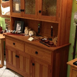 """Solid Cherry """"Craftsman"""" Hutch - Solid Cherry """"Craftsman"""" Hutch. Available in solid Cherry, Walnut, Maple, Alder and Oak, in any size and configuration. Made-to-Order in Colorado and finished with our hand-rubbed oil blend. Nationwide shipping available."""