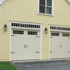 Garaga - Garaga Residential Garage Doors - North Hatley Color: Desert Sand Size:	8' x 7' Carriage style embossed design Windows: Orion 8-lite
