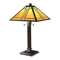 Dale Tiffany - New Dale Tiffany 2-Light Lamp Bronze Mica - Product Details