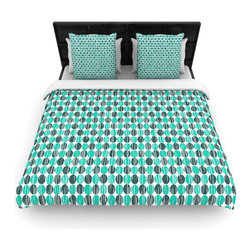 "Kess InHouse - Michelle Drew ""Distressed Circles"" Teal Aqua Fleece Duvet Cover (Queen, 88"" x 88 - You can curate your bedroom and turn your down comforter, UP! You're about to dream and WAKE in color with this uber stylish focal point of your bedroom with this duvet cover! Crafted at the click of your mouse, this duvet cover is not only personal and inspiring but super soft. Created out of microfiber material that is delectable, our duvets are ultra comfortable and beyond soft. Get up on the right side of the bed, or the left, this duvet cover will look good from every angle."