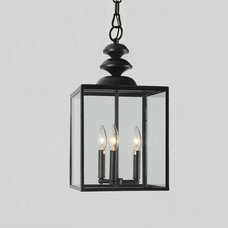 Antique Bronze 3-light Glass Caged Foyer Chandelier | Overstock.com