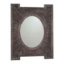 Lincoln Heights Mirror - I love a good mirror. I not only love that this one is oval, but also love that it has a uniquely shaped frame that you don't see every day. The brown mixed with the gray makes it the perfect accessory to hang in a warm room to cool things down or vice versa.