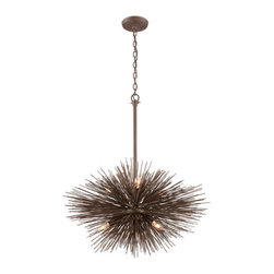 Troy - Uni Tidepool Bronze Six-Light Medium Pendant - - Uni 6 Light Ceiling Mount Pendant. Tidepool Bronze Finish.  - Made from Hand-Worked Wrought Iron.  - Incandescent  - Bulb Not Included Troy - F3666