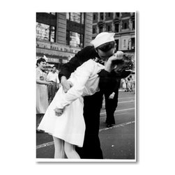 "PosterEnvy - Kissing the War Goodbye - NEW World War 2 Famous VJ Day Kiss Art Print POSTER - 12"" x 18"" Kissing the War Goodbye Art Print POSTER on heavy duty, durable 80lb Satin paper"