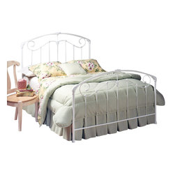 Hillsdale Furniture - Hillsdale Maddie Panel Bed - King - A lightly scaled, Victorian styled bed that marries interesting scroll work with vivid castings. Perfect for the little girls first bed.