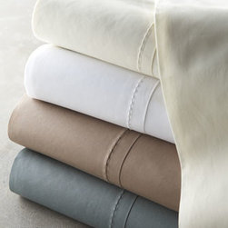 Donna Karan Home - Donna Karan Home King Fitted Sheet - Luxury bed linens in soothing hues make the most of rich textures, from knitted to layered, from solid to striped. From Donna Karan Home. Machine wash sheeting, throw, knit sham, and layered pillow; hand wash lustre and textured pillows; dry clean all o...