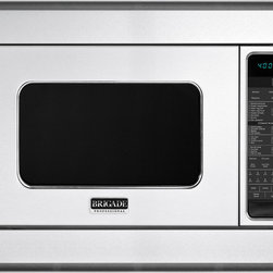 "Brigade Professional Custom Convection Microwave Oven (shown with 30"" Trim Kit) - In addition to the features in the microwave oven, Brigade convection microwave oven offers real convection cooking to brown and crisp evenly. It even preheats for baking perfection."