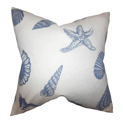 The Pillow Collection - Brilie Coastal Pillow Blue - Add a touch of summer to your home with this accent pillow. Featuring a unique coastal-inspired print in shades of blue and white, this indoor pillow is perfect for your beach house. Mix and match with solids and other patterns like chevron, geometric, ikat, etc. Toss this square pillow into your sofa, bed or couch for extra comfort. Made of 100% soft cotton fabric.