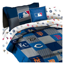Store51 LLC - MLB Bedding Set League Baseball Teams 5pc Twin Bed - FEATURES: