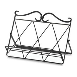 New American - New American Cookbook Holder - In addition to making a stylish kitchen accessory, this cookbook holder is instrumental for the cook who's always experimenting with fabulous new recipes. It conveniently keeps cookbook open when preparing meals or goodies.