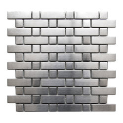 Brick and Square Pattern Stainless Steel Mosaic Tile Sample