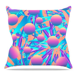 "Kess InHouse - Danny Ivan ""Blind Face"" -Tags Throw Pillow (Outdoor, 16"" x 16"") - Decorate your backyard, patio or even take it on a picnic with the Kess Inhouse outdoor throw pillow! Complete your backyard by adding unique artwork, patterns, illustrations and colors! Be the envy of your neighbors and friends with this long lasting outdoor artistic and innovative pillow. These pillows are printed on both sides for added pizzazz!"