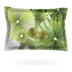 """Kess InHouse - Heidi Jennings """"Green Thumb"""" Lime Pillow Sham (Cotton, 30"""" x 20"""") - Pairing your already chic duvet cover with playful pillow shams is the perfect way to tie your bedroom together. There are endless possibilities to feed your artistic palette with these imaginative pillow shams. It will looks so elegant you won't want ruin the masterpiece you have created when you go to bed. Not only are these pillow shams nice to look at they are also made from a high quality cotton blend. They are so soft that they will elevate your sleep up to level that is beyond Cloud 9. We always print our goods with the highest quality printing process in order to maintain the integrity of the art that you are adeptly displaying. This means that you won't have to worry about your art fading or your sham loosing it's freshness."""