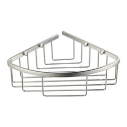 Fresca - Fresca Single Corner Wire Basket - All of our Fresca bathroom accessories are made with brass with a triple brushed nickel finish and have been chosen to compliment our other line of products including our vanities, faucets, shower panels and toilets. They are imported and selected for their modern, cutting edge designs.