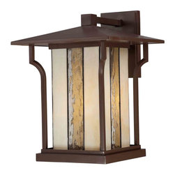 Quoizel Lighting - Quoizel LNG8411CHB Langston Chocolate Bronze Outdoor Wall Sconce - 1, 100W A19 Medium
