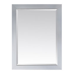 "Avanity - Modero 32"" x 28"" Mirror - Features: -Mirror. -Modero collection. -White finish. -Poplar solid wood construction. -Beveled mirror. -Hangs vertically and horizontally. -Wood cleat at back for easy hanging. -Overall dimensions: 32"" H x 28"" W x 1"" D."