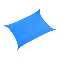 """Cool Area - Cool Area Rectangle 9'10"""" X 13' Sun Shade Sail Patio Shade, Blue - Cool Area shade sail is a stylish and effective shade solution that fit most outdoor living space. You can creatively design your own little shady area in a courtyard, pool, gardens, childrens' play areas, car spaces, and even entry ways. The heavy duty Polyethylene material will keep you cool and out of the hot sun."""