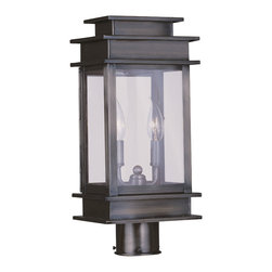 Livex - Livex Princeton Outdoor Post Head 2015-29 - Finish: Vintage Pewter
