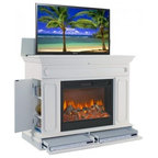 TV Lift Cabinets with Electric Fireplaces
