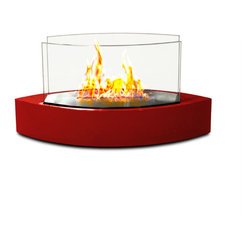 Anywhere Fireplace - Lexington Tabletop Bio-ethanol Fireplace, Red - Forget about candles and other table top accents to add ambiance. The Lexington model Anywhere FireplaceTM brings you all the tabletop elegance you are looking for with its distinctive shape, high gloss white finish and its real flames. Enjoy the ambiance of a real fire but without the hassle of smoke, melting wax, soot, ash, smell etc. Use it on the dinner table or a coffee table.
