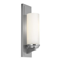 Feiss - Feiss 1 - Light Amalia Wall Bracket - WB1723BS - 4.5 in. x 16 in. - 1 Bulb Brushed Steel Wall Bracket