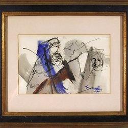 Gino Hollander, Acrylic and Mixed Media Drawing - Artist:  Gino Hollander, American (1924 - )