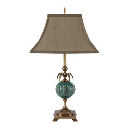 Harlequin Light - Harlequin Luxuriant Lamp - Distinctive elegance in the colors of the sea.