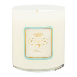 TOCCA 'Bianca' Candela - Intoxicatingly fresh, clean and sparkling, Bianca personifies la dolce vita with notes of green tea, lemon and sugar.TOCCA's luxurious, scented candles inspire specific moods and emotions, destined to create an ambiance. The fragrances are perfectly paired with a clean-burning proprietary wax blend and 100% cotton wick for exquisite throw. Each hand-poured candle will enhance any room in your home or wherever life takes you.The 10.6 oz. candle burns for approximately 60 hours. Brand: TOCCA. Style Name: TOCCA 'Bianca' Candela. Style Number: 619413.