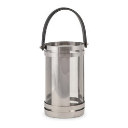 iMax - iMax Chandler Small Stainless Lantern X-72798 - With modern styling and a quality stainless steel design, the small Chandler lantern adds style to any room. Holds pillar candles.