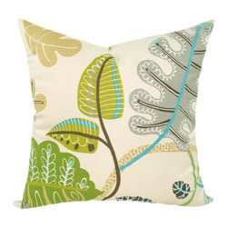Land of Pillows - Waverly A New Leaf Throw Pillow, Meadow - Fabric Designer - Waverly
