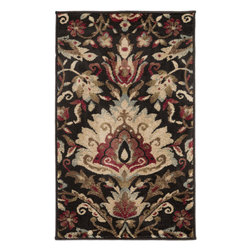 Surya - Riley Rug RLY-5018 - 10' x 13' - Both a bold zig-zag pattern and traditional organic pattern define the rugs in the Riley collection from Surya. While the zig zag pattern is a modern take on the traditional southwest style, the floral pattern of classic style is given a fresh perspective, combining it with geometric sections of different background colors. The Neural browns, tans and grays are delightfully balanced with a pop of cinnamon spice for added interest. Each rug is machine made in Turkey from 1% polypropylene.