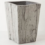 Large Glacier Planter - This container is meant to be a planter, but I would use it as a very attractive wastebasket under the desk instead. Of course, it would also be lovely filled with greenery, if you wish.